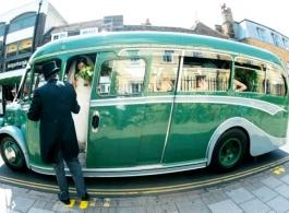 Vintage bus for weddings in Peterborough